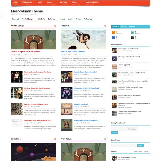 mesocolumn.free.wordpress.theme