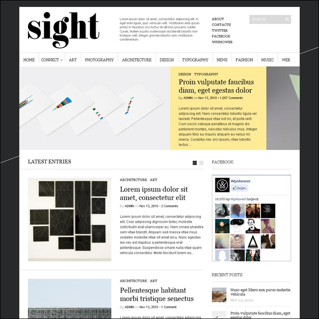 sight.wordpress.theme.free.download.wpshower